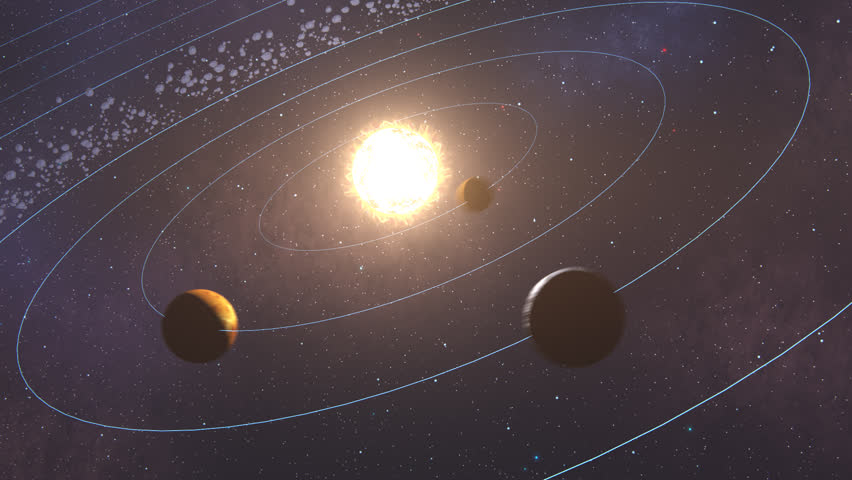 02353 Planets Revolving Around The Sun In Space