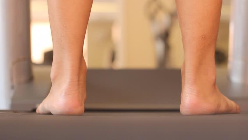 Treadmill Cardio Workout Hd Stock Footage Clip