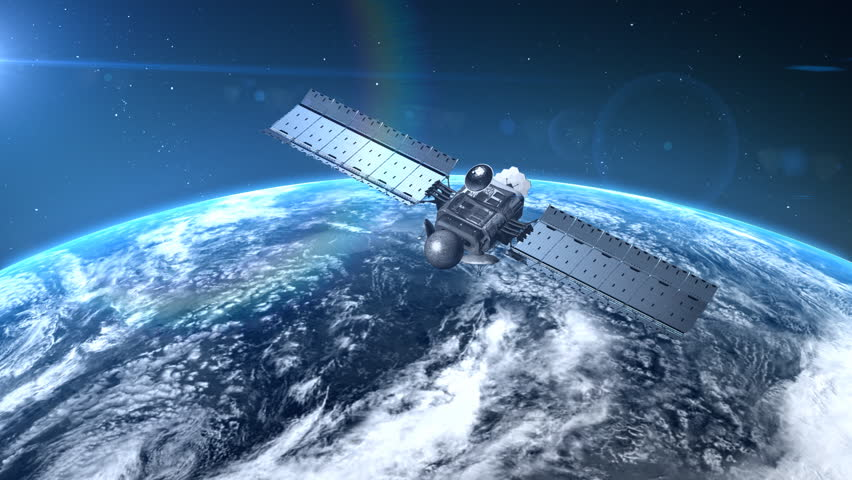 Satellite Is Orbiting The Earth Stock Footage Video - Hd satellite images