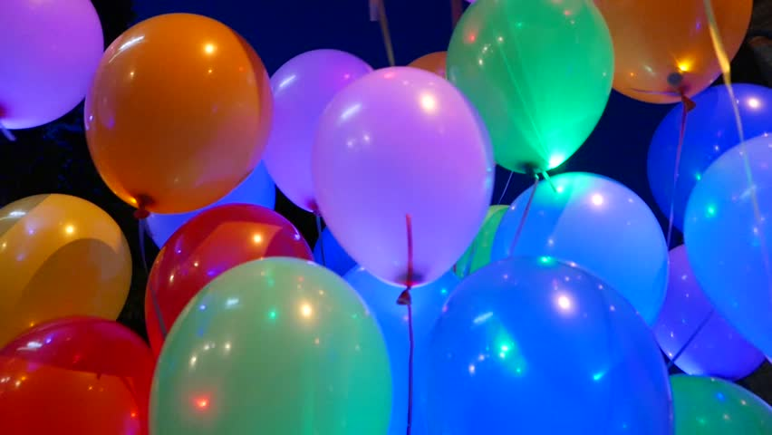 Multicolored Balloons Holiday Birthday Party Stock Footage Video 100 Royalty Free 11158454 Shutterstock