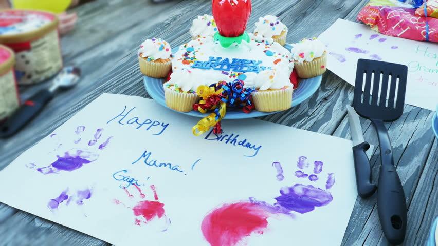 Happy Birthday Cake For Grandma Stock Footage Video 100 Royalty