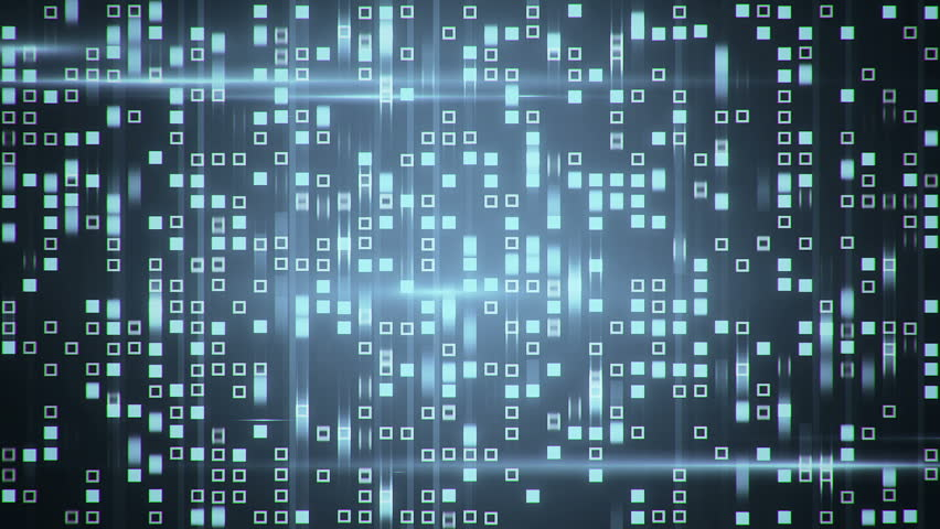 Abstract technology background with animation fast motion of squares and light stripes. Animation of data transferring or computer's data files. Animation of seamless loop. | Shutterstock HD Video #11177984