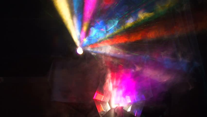 Stock video of beautiful lighting effects beautiful disco - Cool lighting effects for your room ...