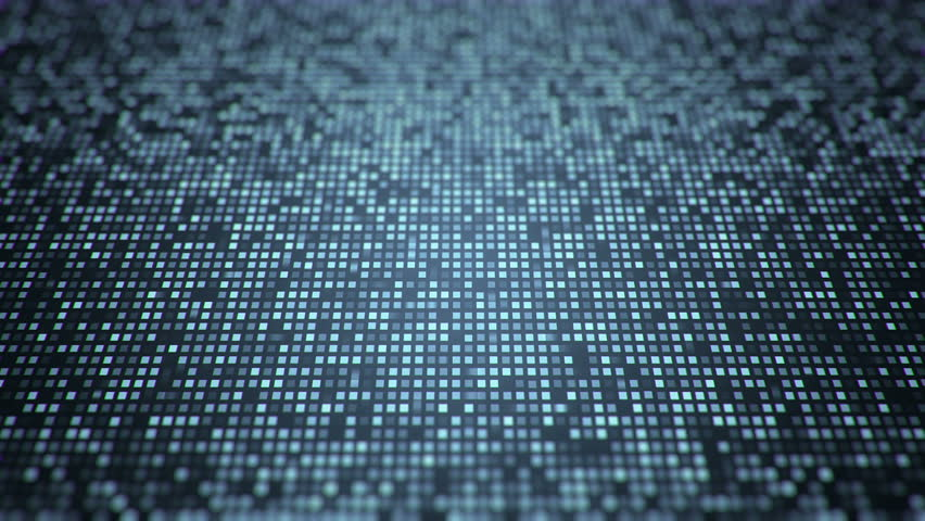 Abstract technology background with animation slow motion of squares and light stripes. Animation of data transferring or computer's data files. Animation of seamless loop.