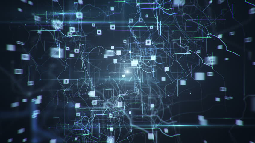 Abstract background of technology network. Animation of flow abstract lines and flicker dots linking network. Animation of seamless loop. | Shutterstock HD Video #11223602