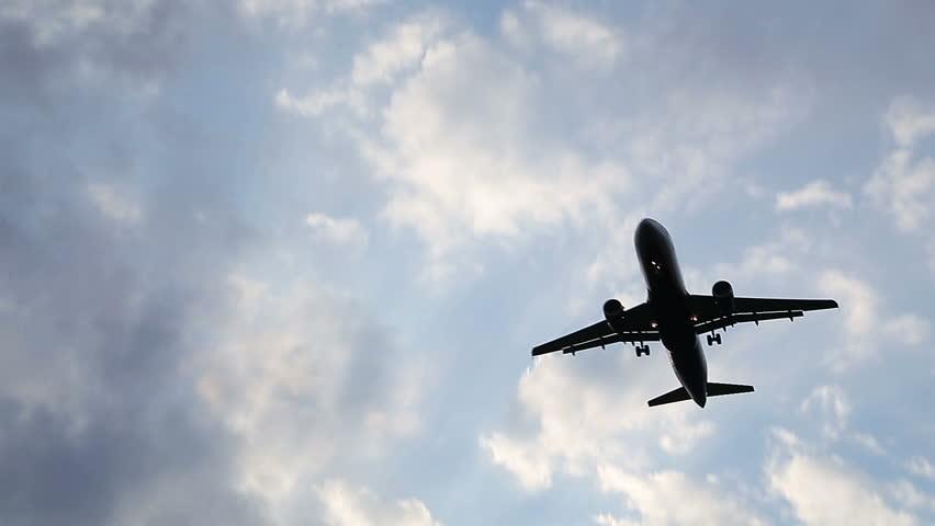 Airplane in the Sky Landing | Shutterstock HD Video #11229146