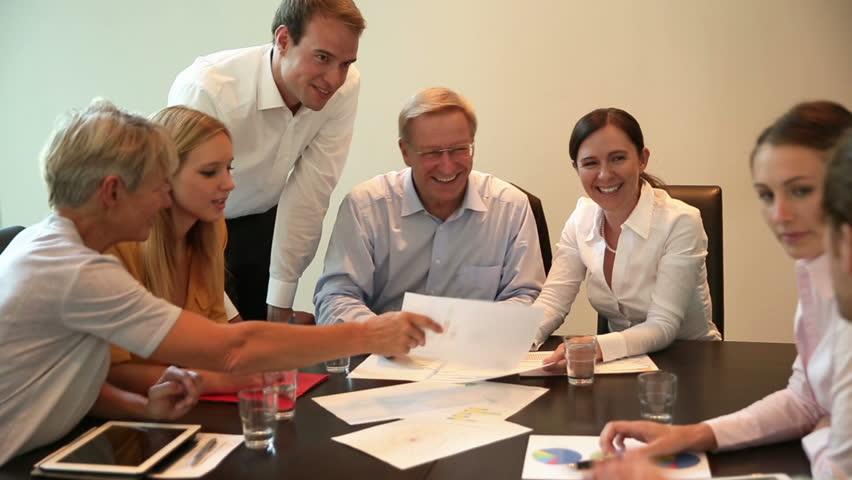 Business team having a financial meeting in an office (Full HD) | Shutterstock HD Video #11257574