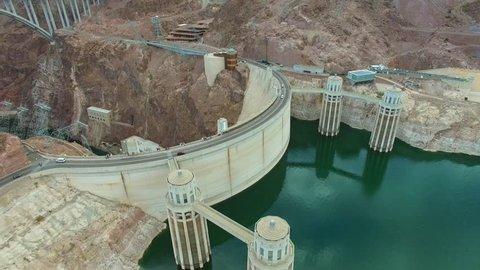 Aerial video Hoover Dam