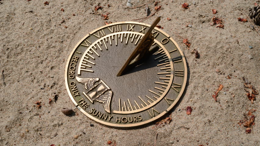 Time Lapse Sundial in Sand #2