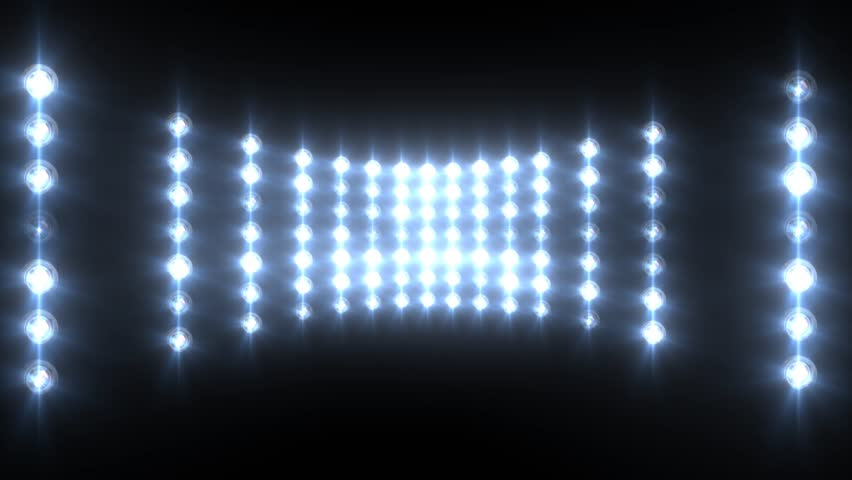 Blue Wall Of Lights Stage Sports Stadium Background Stock: Flashing Blue Wall Of Lights Stock Footage Video (100