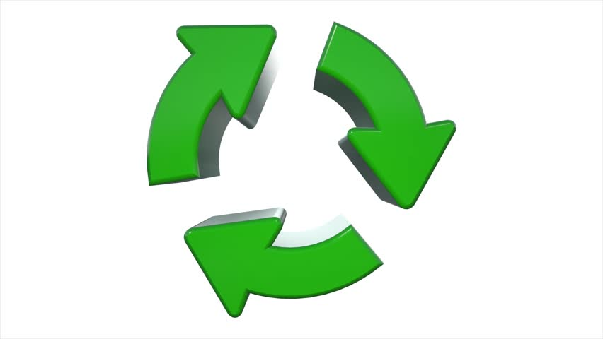 Stock Video Of Green Spinning Recycle Recycling Symbol Logo