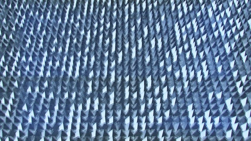Abstract background with slow rotation of glass triangles. Technology backdrop. Animation of seamless loop. | Shutterstock HD Video #11350424