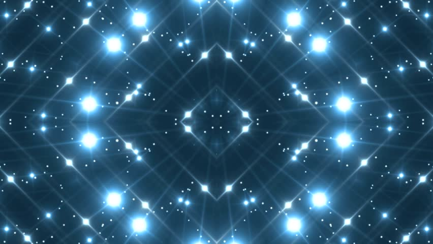 Fractal blue kaleidoscopic background. Background motion with fractal design. Disco spectrum lights concert spot bulb. More sets footage in my portfolio.