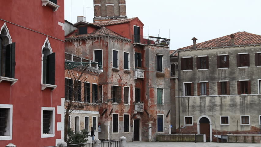 Leaning Tower In Venice   HD Stock Video Clip Part 72