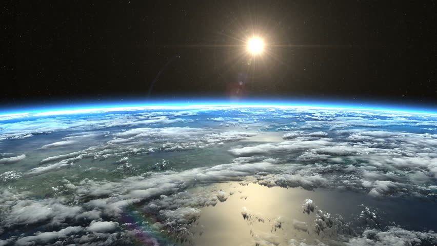 Beautiful slow sunrise from Earth orbit. View from ISS. Clip contains earth, sunrise, space, sun, awaken, clouds, water, sunset, planet, globe. Images from NASA. | Shutterstock HD Video #11434703