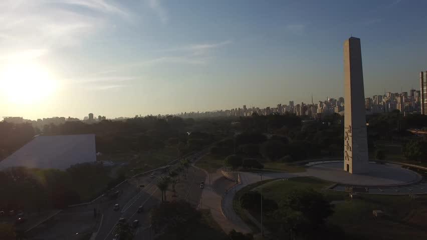 Aerial View Ibirapuera Park of Sao Paulo city, Brazil #11447474