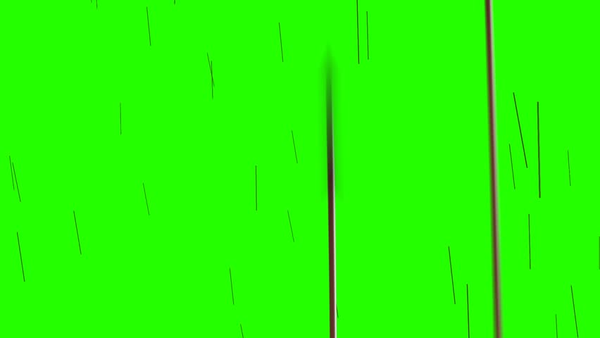 Rain Of Arrows on a Green Screen Background