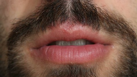 HD: Mouth and Goatee Close-Up