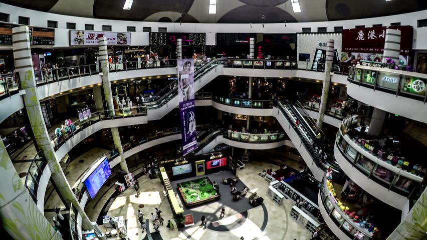 Dalian,China-Jun 11,2015: The customers wander at Peace Square shopping mall in Dalian, China.  | Shutterstock HD Video #11515520