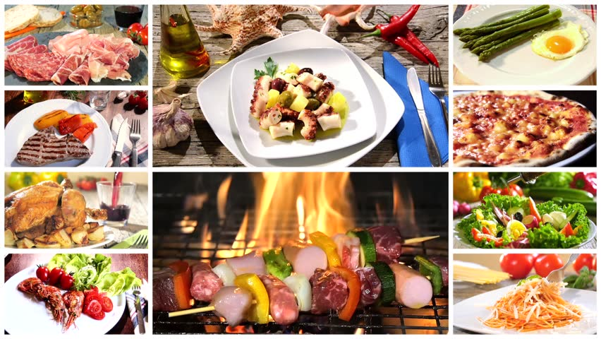 Various delicious food recipes collage videos de metraje en stock various delicious food recipes collage hd stock video clip forumfinder Images