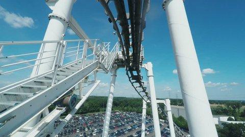 Having fun on a roller coaster ride. Shoot on Digital Cinema Camera in 4K - ProRes 422 codec.