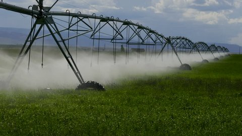 Farm irrigation watering movement