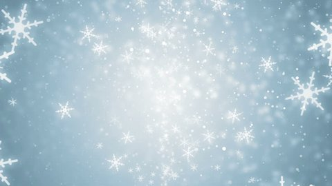 White glitter background - seamless loop, winter theme. VJ Elegant abstract with snowflakes. Christmas Animated Blue Background. loop able abstract background circles.