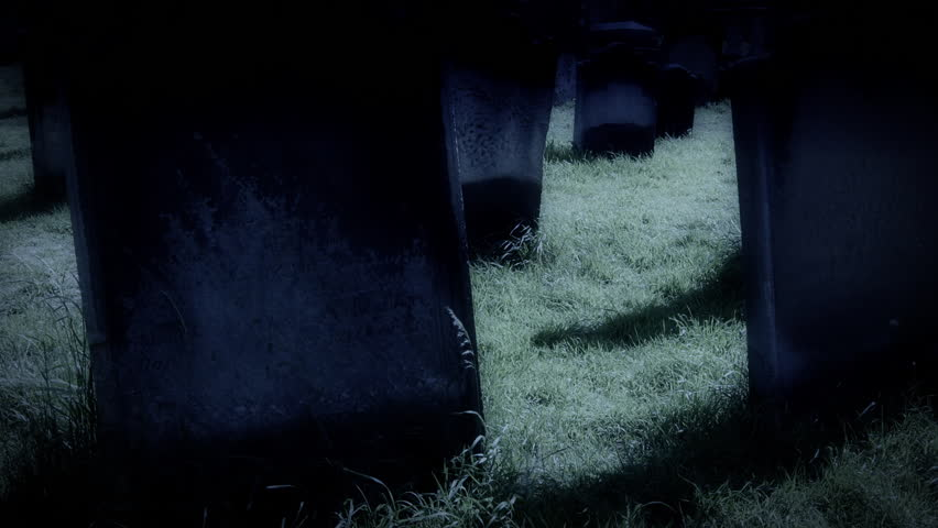 Ancient Graveyard in Whitby, North Yorkshire HD stock footage. Ancient Graveyard in Whitby where Count Dracula resided when he came to England. ProRes.