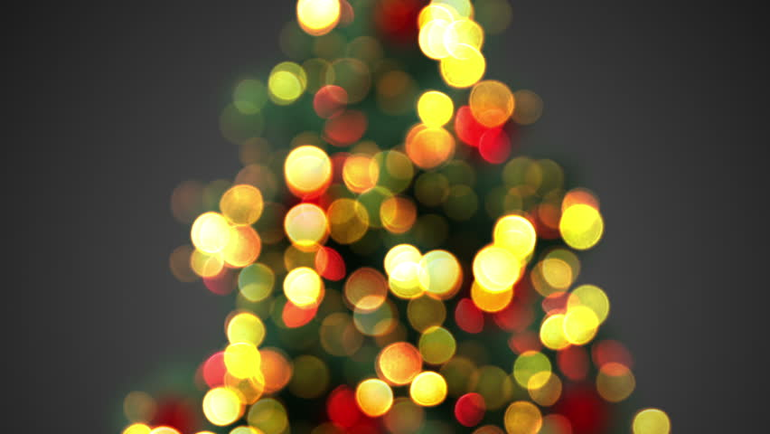 Defocused Christmas Tree Lights Computer Generated Seamless Loop Animation Stock