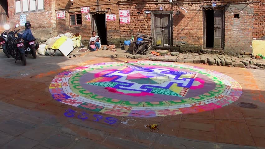 Stock Video Clip Of Kirtipur Nepal Nov 4 Buddhist Mandala