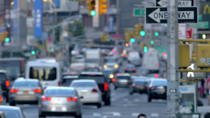 Busy congested street traffic unrecognisable blurred jammed commute cars day New York City NYC | Shutterstock HD Video #11638934