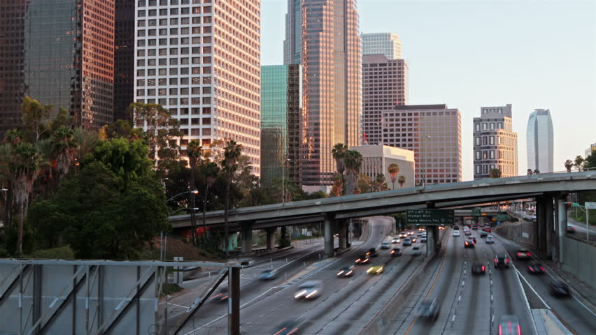 Time lapse of Los Angeles city traffic at sunset | Shutterstock HD Video #11641547