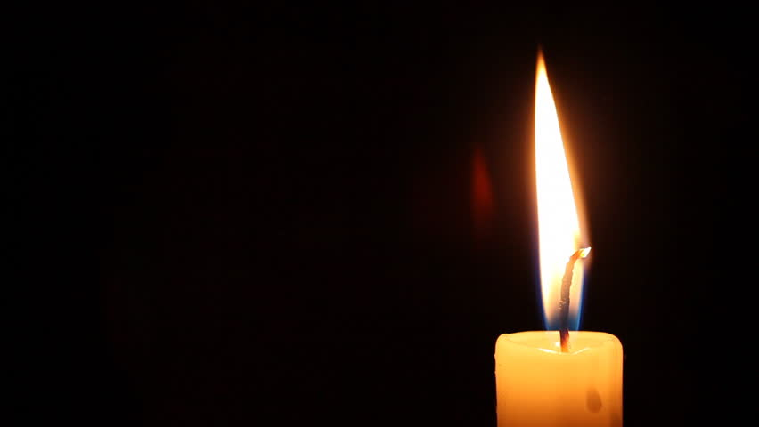 Burning Candle Dies Out Stock Footage Video 100