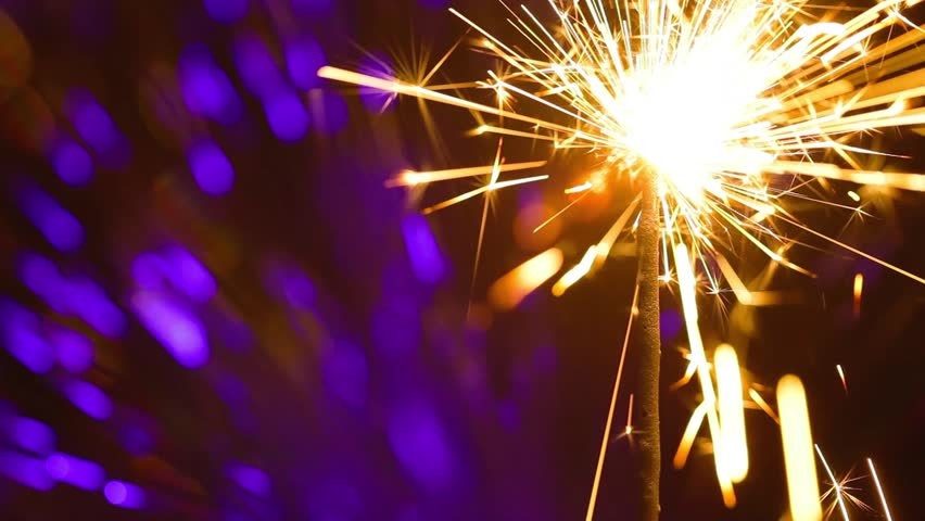 Lightening Christmas sparkler | Shutterstock HD Video #11650184