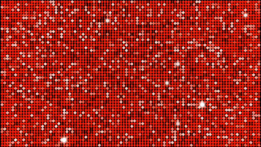 Red reflectors and sparkles  seamless looping