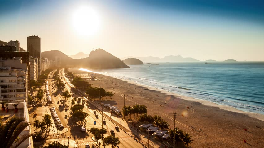 Copacabana beach sunrise timelapse, in Rio de Janeiro, Brazil (4K). For the 1.6GB MJPEG HD version, search clip ID 11664845 | Shutterstock HD Video #11696096