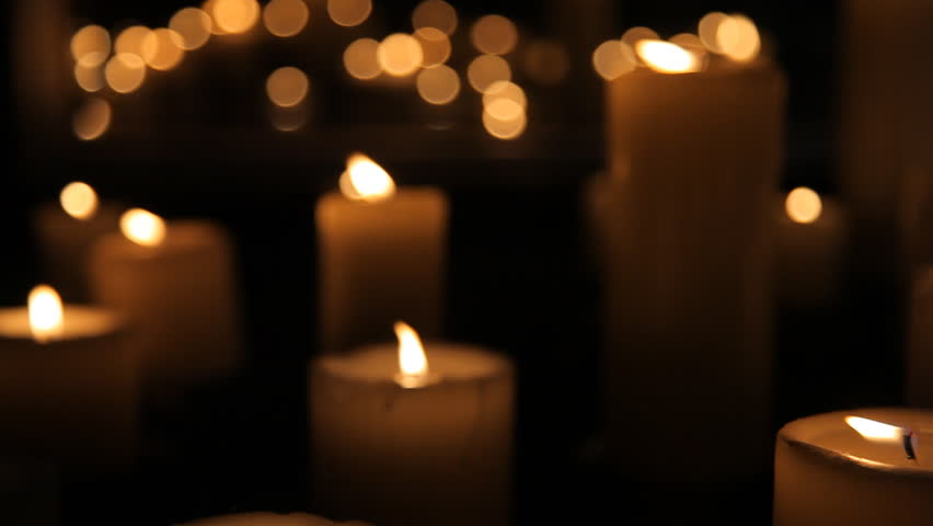 Candles go out