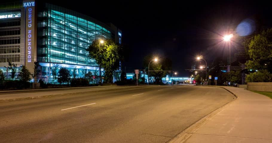 EDMONTON - Motion timelapse of Kaye Clinic, 11400 University Avenue in Edmonton, Alberta on April 28, 2015 | Shutterstock HD Video #11730944