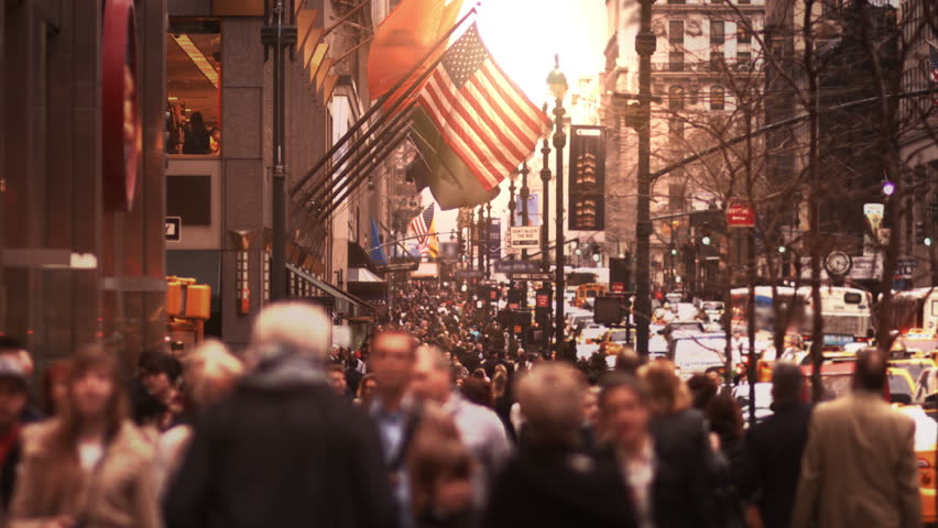People walking in busy street. Crowded street of Manhattan. More options in my portfolio.