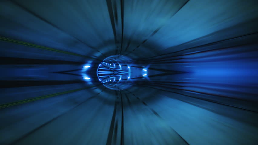 Journey through a tunnel. Loopable. Cylindrical. Blue. High speed ride through a colorful tunnel. More colors in my portfolio. | Shutterstock HD Video #11745014