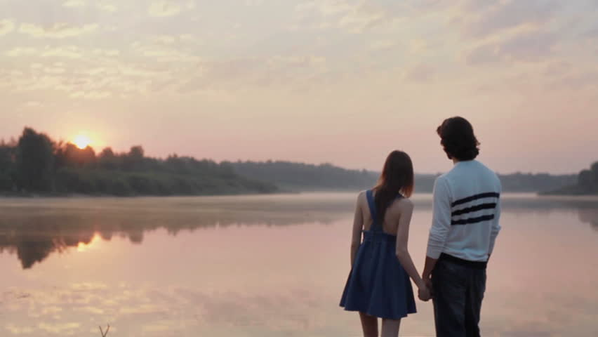 Young Couple In Love Holding Stock Footage Video (100