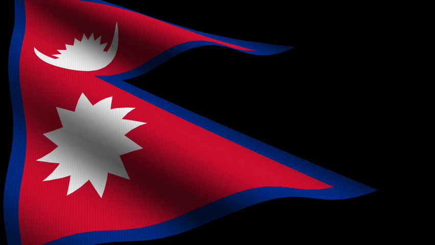 Nepal Close up Waving Flag Stock Footage Video (100% Royalty-free) 1185214  | Shutterstock