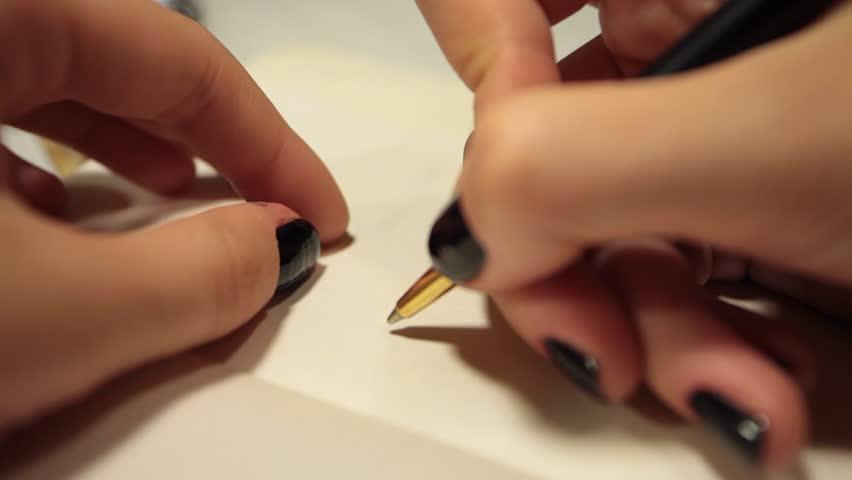 Handwriting in diary. Dear Mom | Shutterstock HD Video #11857244