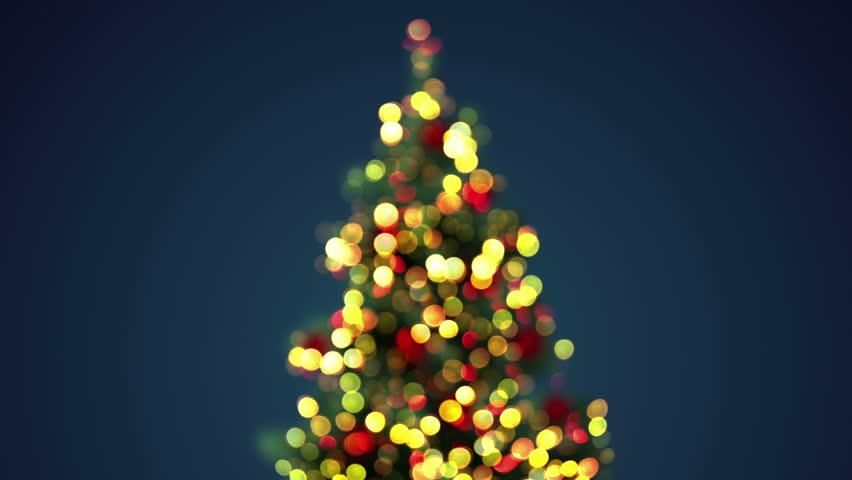 Blurred Christmas Tree. Seamless Loop Stock Footage Video (100 ...