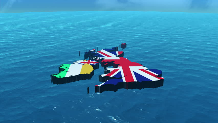 3D HD United Kingdom Map Zoom In
