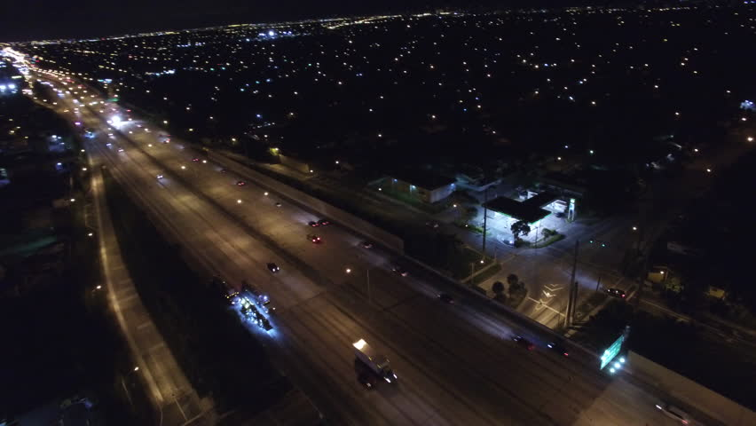 Aerial video I95 at night | Shutterstock HD Video #11952314