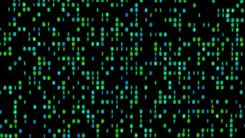Data Stream Binary Glowing 4K   Shutterstock HD Video #12055574
