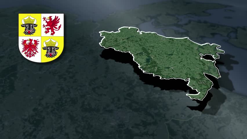 MecklenburgVorpommern Whit Coat Of Arms Animation Map Federal