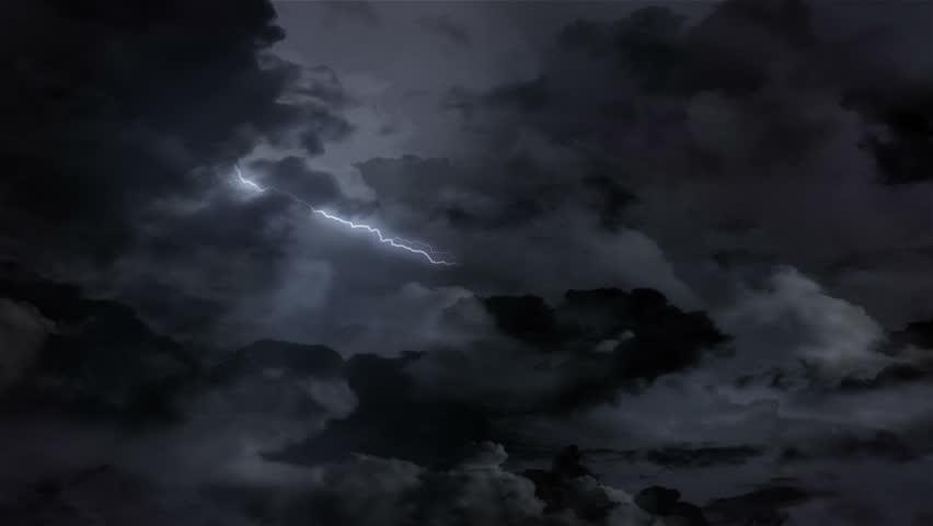 Lightning Storm Clouds Weather (Loop)