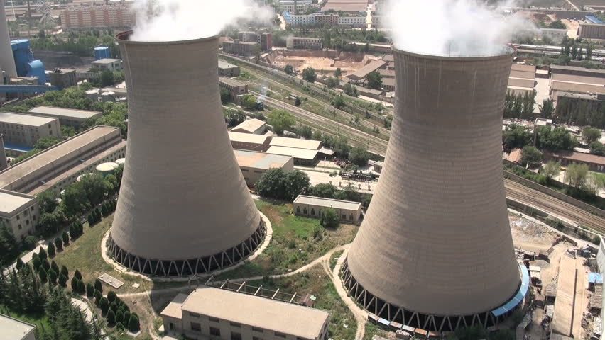 Double coal fired power plant in China